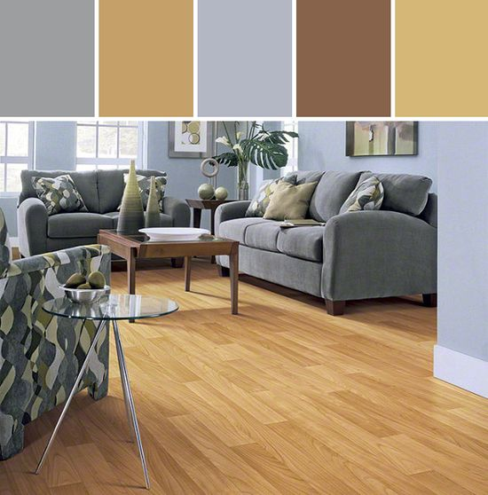 Resilient Bonaface Flooring Living Room Designed By Shaw Floors via Stylyze