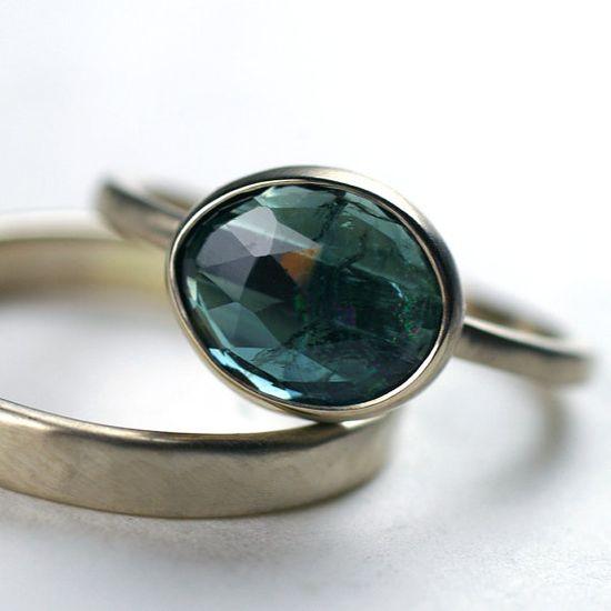 Blue Tourmaline Ring - $528.00 - via Bliss Blog - www.etsy.com/...