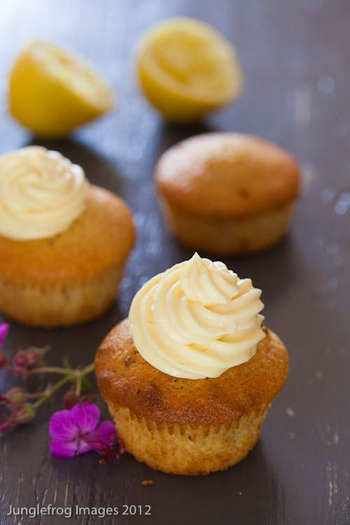 Honey lime coconut muffins with lemon curd