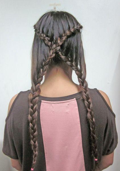 X Braid for long hair
