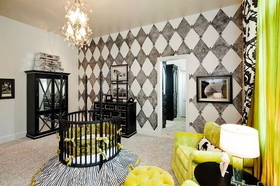 Edgy Nursery #interiors #decor #edgyprep