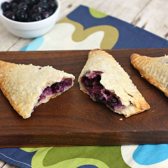 Blueberry-Cream Cheese Hand Pies by @Tracey Wilhelmsen (Tracey's Culinary Adventures)