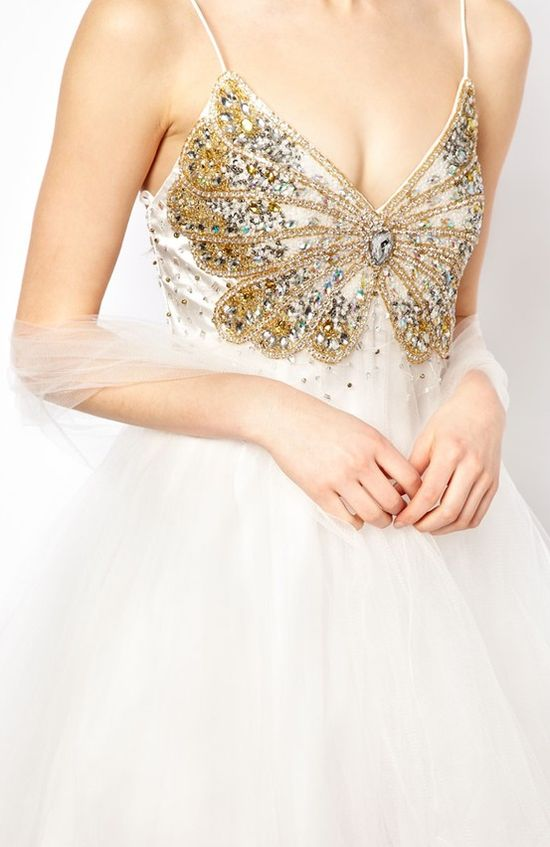 Sequin butterfly party dress