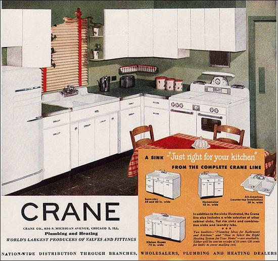 1949 Crane Kitchen Ad by American Vintage Home, via Flickr