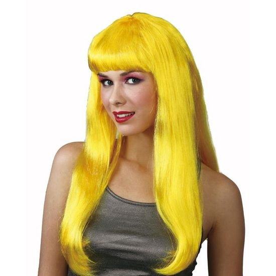 Ladies Fantasy Yellow Wig Fancy Dress Costume Halloween Party Accessory New Preview