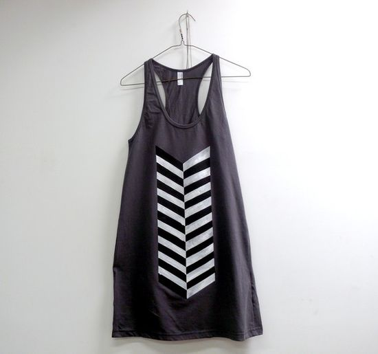 Love this feather tank dress.