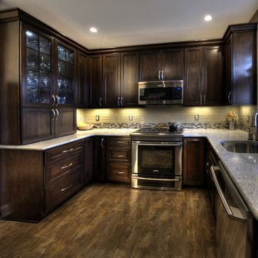 Espresso Kitchen Cabinets Design Ideas, Pictures, Remodel, and #floor design #modern floor design #floor