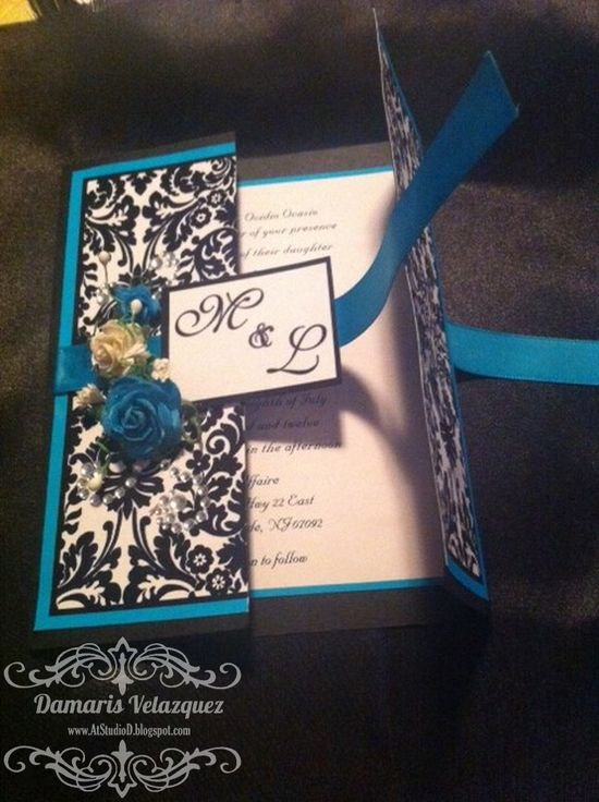 Handmade Wedding Invitations - Tutorial - Damask