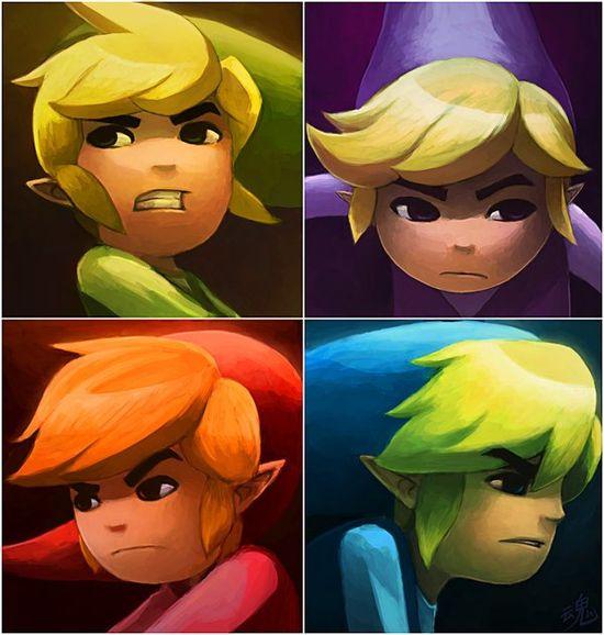 Amazing Zelda: Four Swords Art