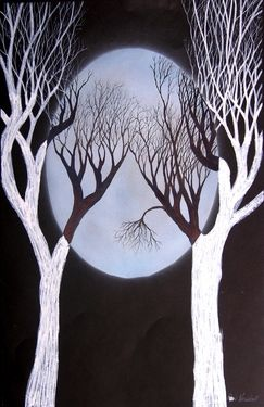 "Saatchi Online Artist Ron Kendall; Painting, ""Blue Moon"" #art"