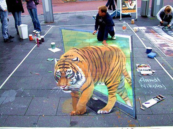 3D Tiger Artwork by Karola Bruckmann. S)