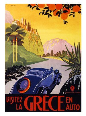 greece-travel-poster by nostalgicphotosandprints, via Flickr
