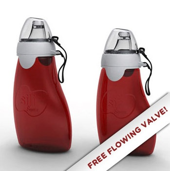 Sili Squeeze with Eeeze™ (free-flowing valve like those you usually buy in stores)