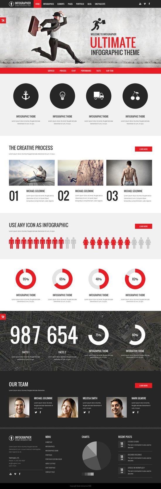 Infographer - Multi-Purpose Infographic Theme themeforest.net/... #web #design #wordpress