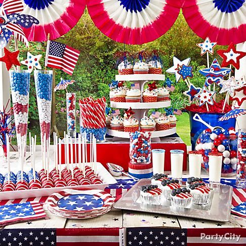 A WOW dessert table for a 4th of July party!