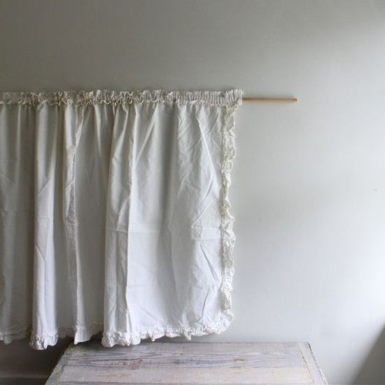 curtain:  vintage cotton bolster cover