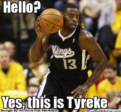 Tyreke Evans Christmas Gift: New Phone? Credit: Noah Falasco  whatdoum...