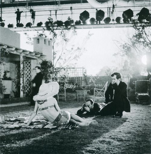 On the set of 'Lolita'.