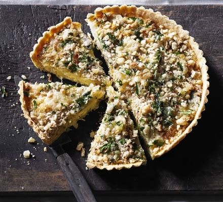 Leek & Caerphilly crumble tart  from  BBC Good Food Magazine, October 2012
