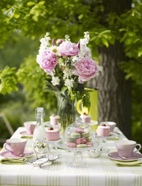 Pretty Pink Outdoor Tea Party