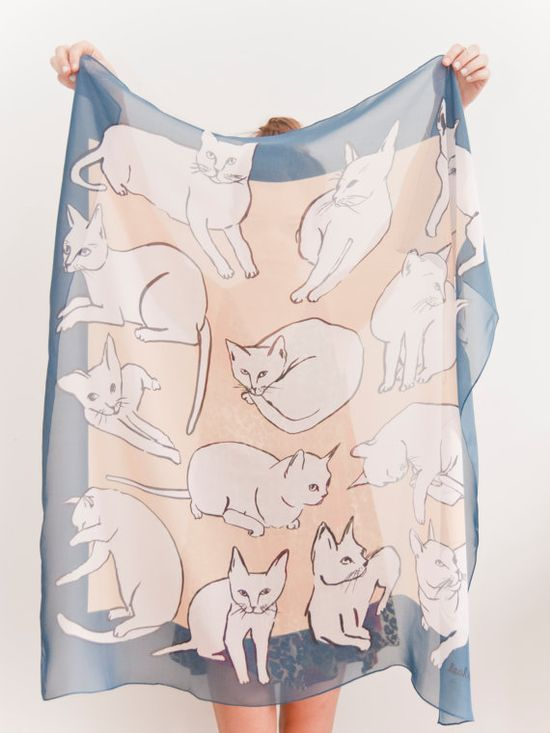 Picasso cat scarf. what.