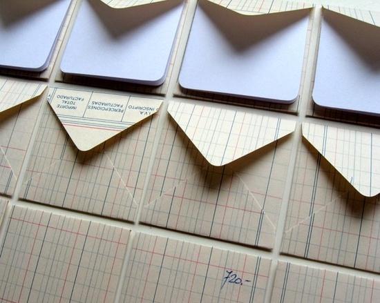 ledgers become envelopes