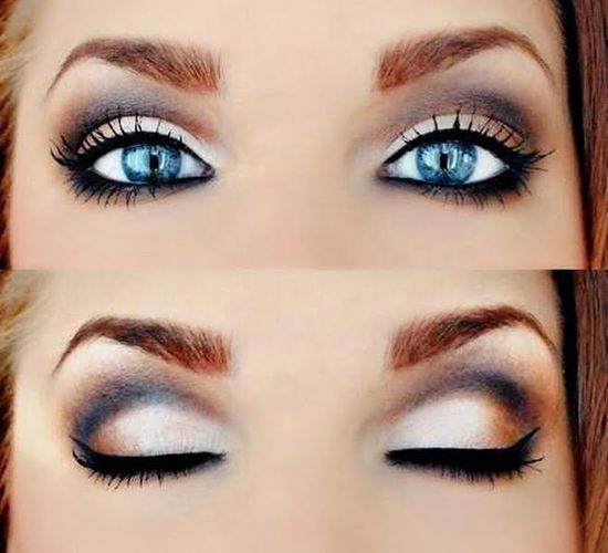 Makeup for blue eyes (might have pinned this before)