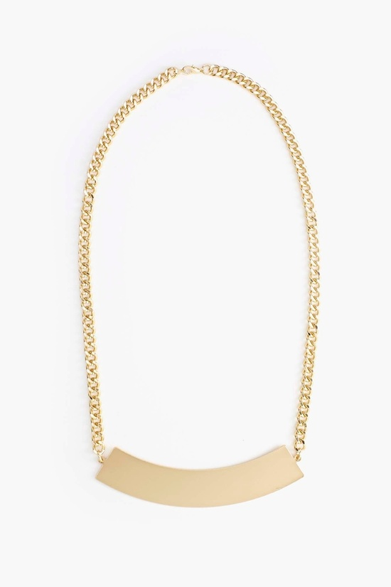 Metal Bar Necklace in Gold