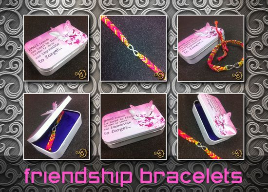 Friendship Bracelet with Hand Made Gift Tin for that SPECIAL person...