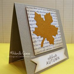 Handmade greeting card note set perfect for a Fall hello!