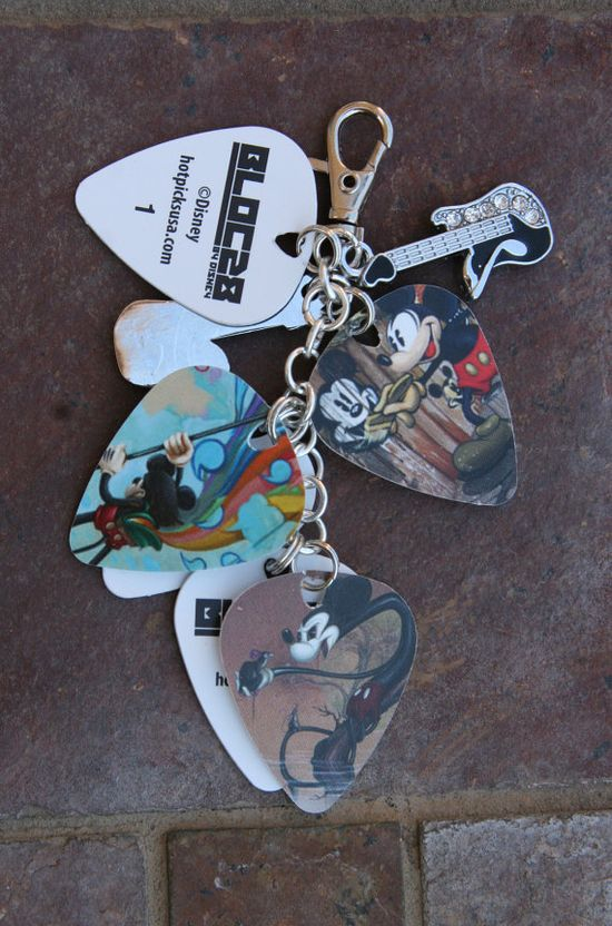 Disney  Inspired Mickey Mouse Style Guitar Picks  by chuckhljal, $35.00