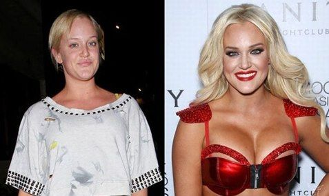 Shocking Pictures of Celebrities With and Without Makeup