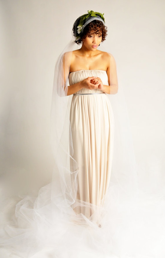 Bardot Gown by StudioRubyCharles on Etsy #wedding #dress #bride #blush #african