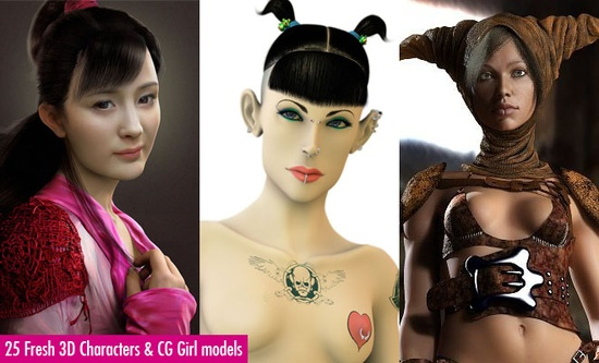 25 Fresh 3D Character Designs and CG Girl models for your inspiration. Follow us www.pinterest.com...
