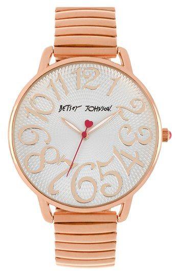 Loving rose gold! Betsey Johnson Watch