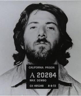 Dustin Hoffman- mug shot