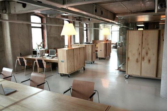 Creative Wooden Office Interior Design
