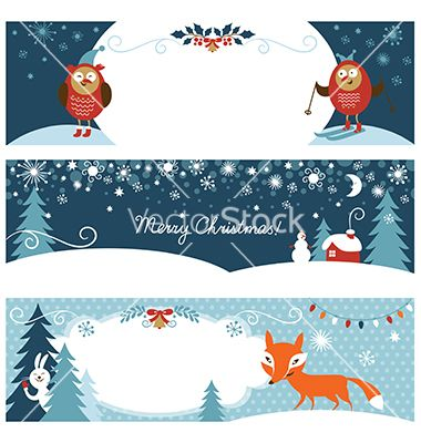 Set of christmas graphic banners vector - by Lenlis on VectorStock®
