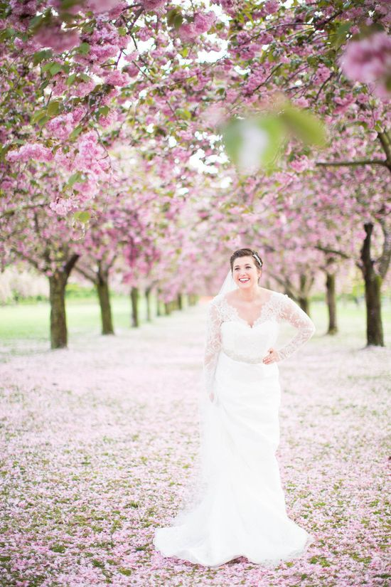 Brooklyn Botanical Garden Bridal Shoot from Amy Rizzuto Photography  Read more - www.stylemepretty...