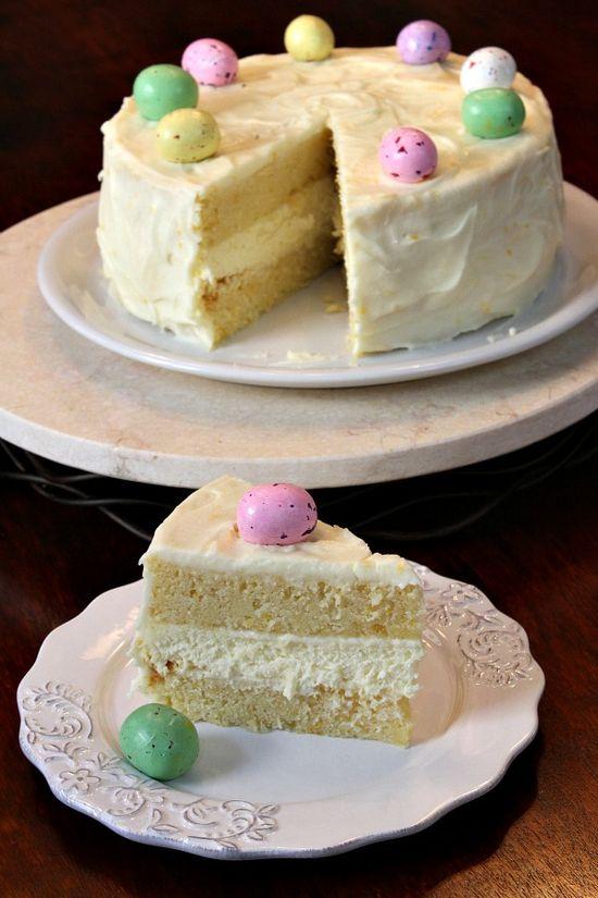 Meyer Lemon Cheesecake Cake by RecipeGirl