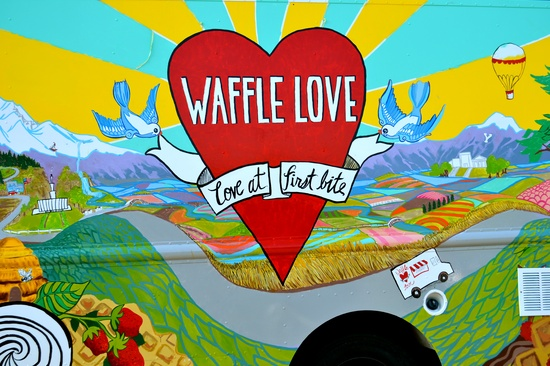 Check our awesome Waffle Truck, from Waffle Love!