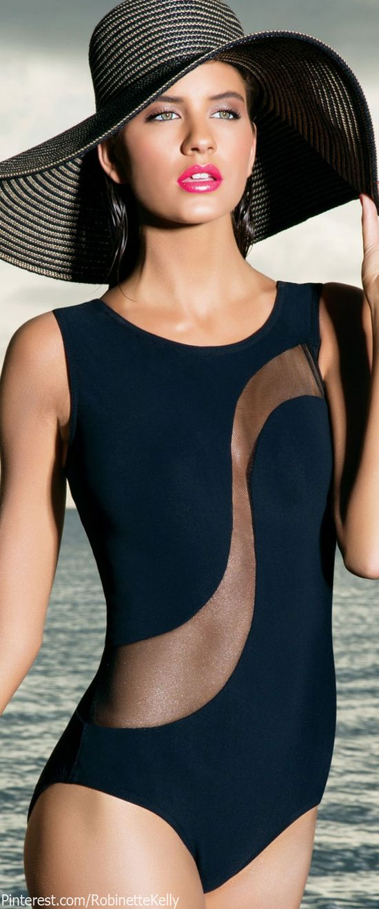 Karla Colletto 2014 Black Mirage One-Piece Swimsuit