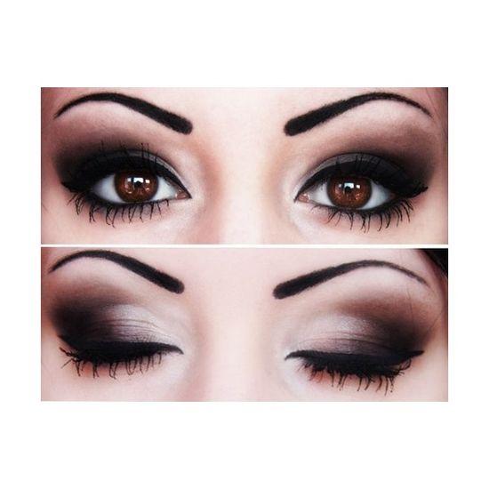 smokey eye brown eyes