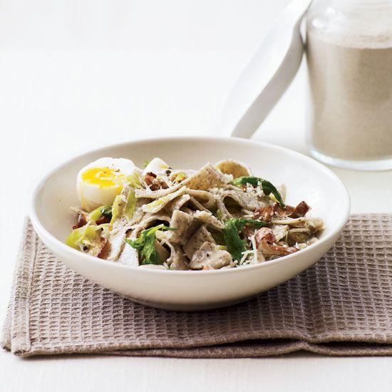 Creamy Buckwheat Pasta with Wild Mushrooms  // More One Dish Pastas: www.foodandwine.c... #foodandwine