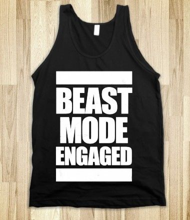 #beastmode #workout #exercise #fitness #tank Beast Mode Engaged