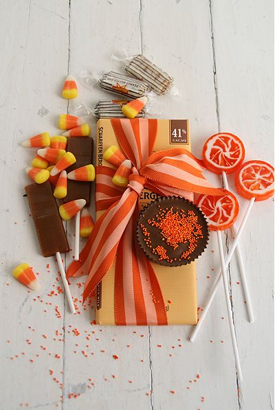 Halloween Candy - love the hint of coral
