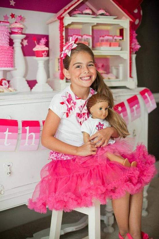 The sweetest American Girl Doll Birthday Party via Kara's Party Ideas
