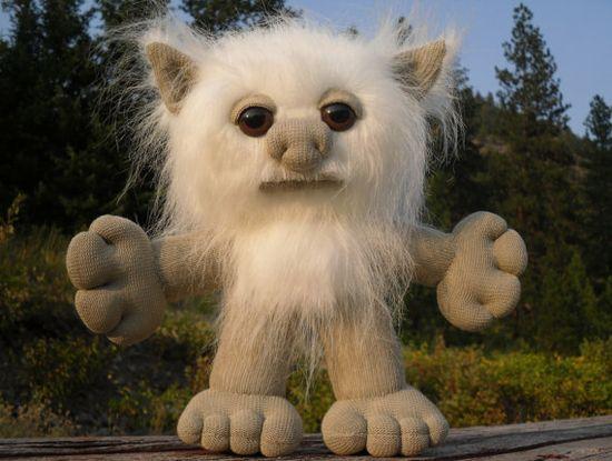 Sock Troll, Sock Monster, Stuffed Monster, Stuffed Animal