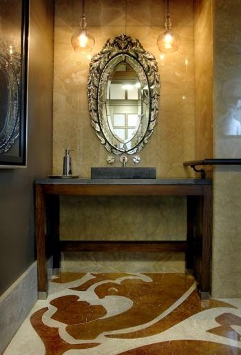 pattern marble inlay floor