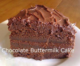 Grammy's House/Farm: Chocolate Buttermilk Cake Recipe - TheBakingPan.com - How to Make Chocolate Buttermilk Cake